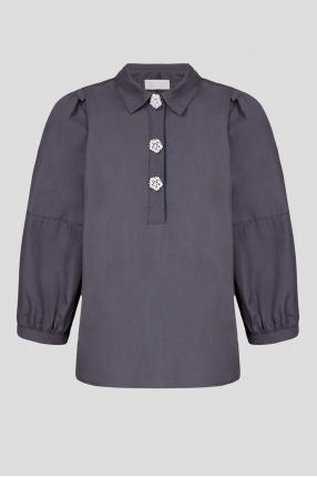 Женская темно-серая рубашка