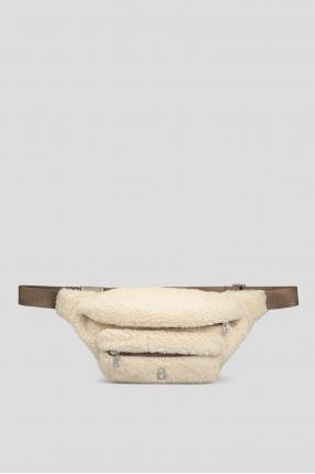 Мужская белая поясная сумка