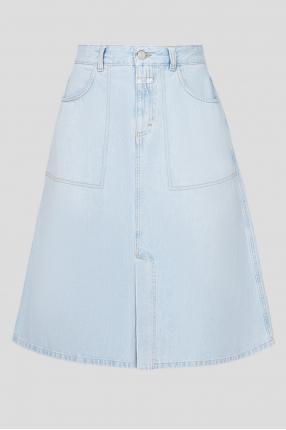 Жіноча блакитна джинсова спідниця