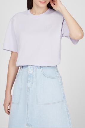 Женская сиреневая футболка 1