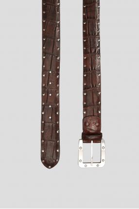 Мужской коричневый кожаный ремень 1