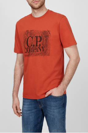 Мужская терракотовая футболка 1