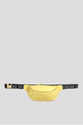 Жіноча жовта поясна сумка