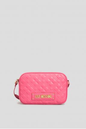 Жіноча рожева сумка через плече