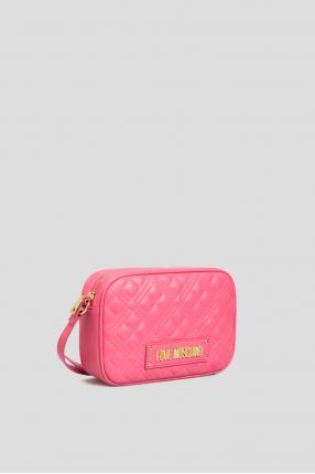Жіноча рожева сумка через плече 1