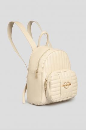 Жіночий бежевий рюкзак 1