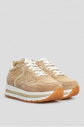 Женские бежевые кроссовки 1