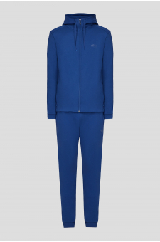Мужской синий спортивный костюм (худи, брюки)