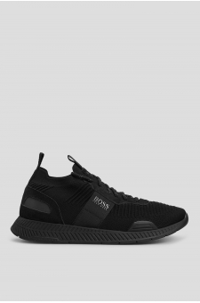 Мужские черные кроссовки