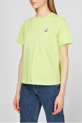 Женская салатовая футболка 1
