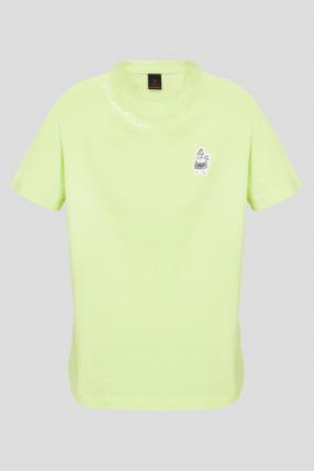 Женская салатовая футболка