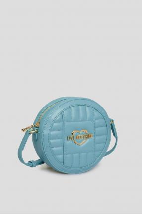 Женская голубая сумка через плечо 1