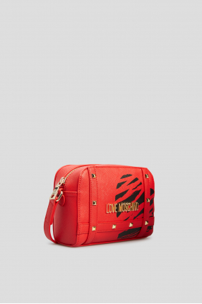 Женская красная сумка через плечо 1