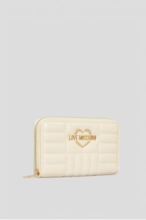 Жіночий бежевий гаманець 1