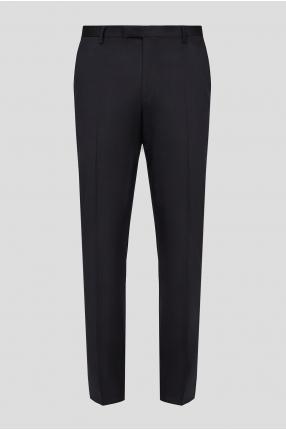 Мужские черные шерстяные брюки