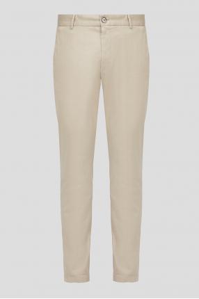 Мужские бежевые брюки