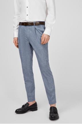 Мужские синие шерстяные брюки 1