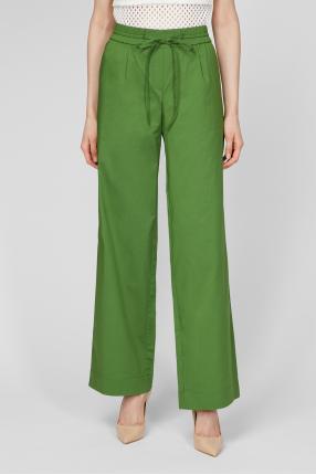 Женские зеленые брюки 1