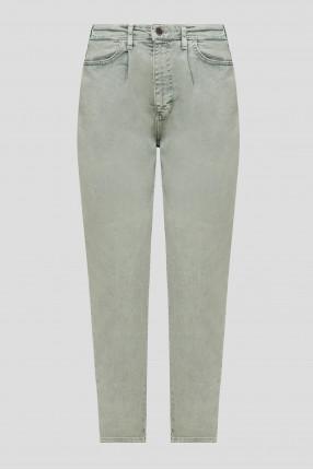 Женские мятные джинсы