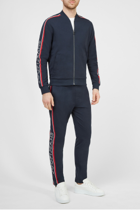 Чоловічий темно-синій спортивний костюм (кофта, штани) 1