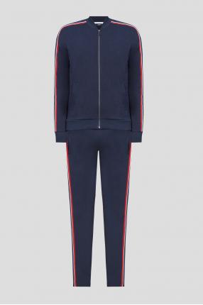 Чоловічий темно-синій спортивний костюм (кофта, штани)