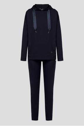 Женский темно-синий спортивный костюм (худи, брюки)