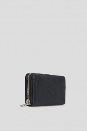 Темно-синий кожаный кошелек 1