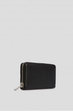 Чорний шкіряний гаманець 1