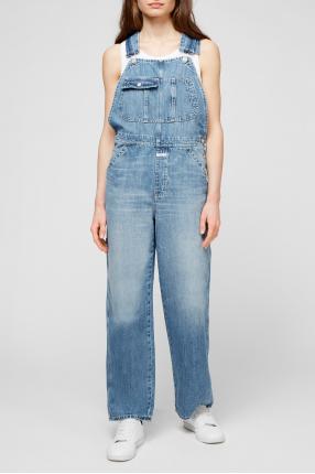 Жіночий синій джинсовий комбінезон 1