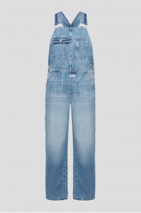 Жіночий синій джинсовий комбінезон