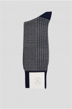 Мужские серые носки с узором