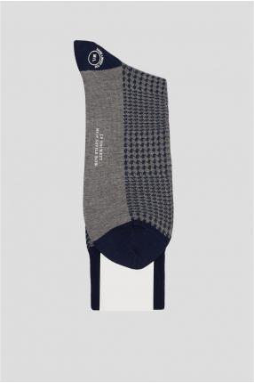 Мужские серые носки с узором 1
