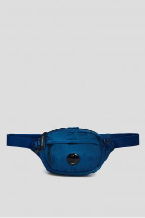 Чоловіча синя поясна сумка