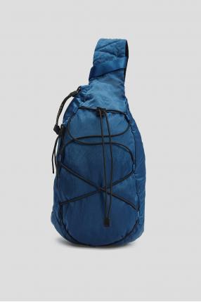 Чоловіча синя сумка через плече