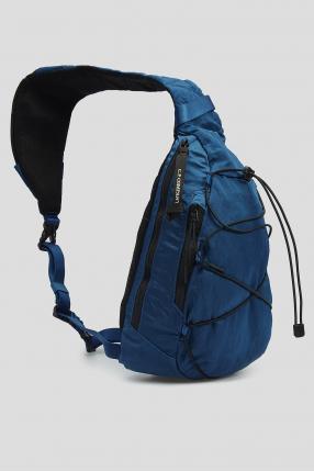 Чоловіча синя сумка через плече 1