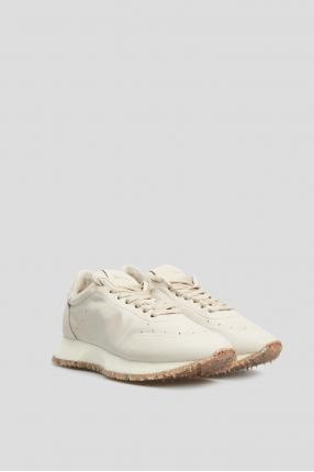 Жіночі бежеві шкіряні кросівки 1