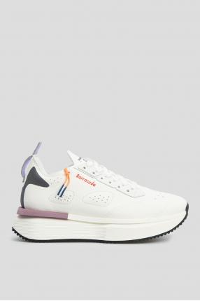 Жіночі білі замшеві кросівки