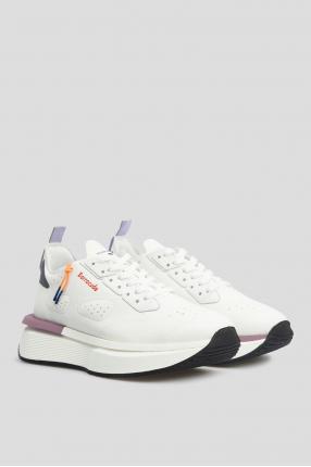 Жіночі білі замшеві кросівки 1