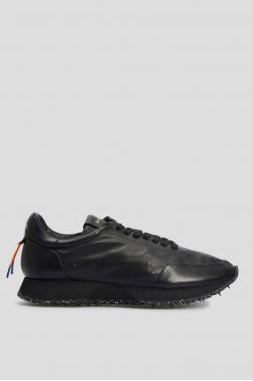 Чоловічі чорні шкіряні кросівки