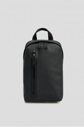Мужская темно-серая сумка через плечо