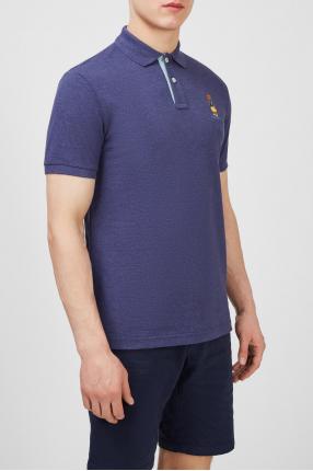 Мужское фиолетовое поло 1