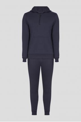 Чоловічий темно-синій спортивний костюм (худі, штани)