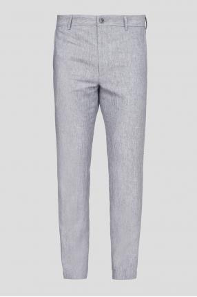 Мужские серые льняные брюки