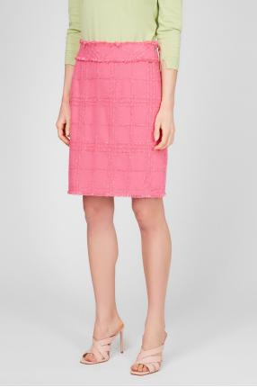 Жіноча рожева твідова спідниця 1