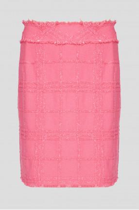 Жіноча рожева твідова спідниця