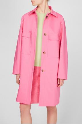Жіночий рожевий тренч 1