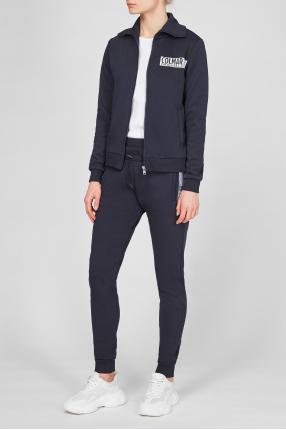 Жіночий темно-синій спортивний костюм (кофта, штани) 1