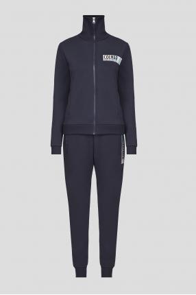 Жіночий темно-синій спортивний костюм (кофта, штани)