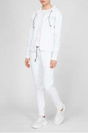 Жіночий білий спортивний костюм (худі, штани) 1