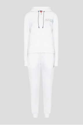 Жіночий білий спортивний костюм (худі, штани)